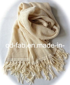 Hot Sale 100% Hemp Scarf /Shawl with Tassels (PHS-100) pictures & photos
