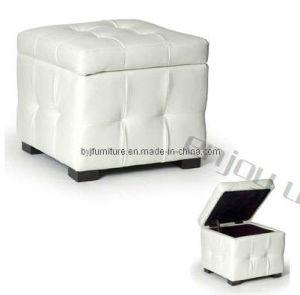 White Storage Stool E001A