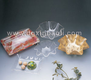 Colorful Acrylic Fruit Food Display Stand Serving Tray for Hotel