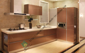 UV Wood Kitchen Cabinet (zs-119) pictures & photos