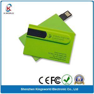 Special Sliding Plastic Credit Card USB Flash Drive pictures & photos