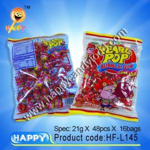 Pearl Pop Chewing Gum Lollipop / Chewing Gum Lollipop (HF-L145)