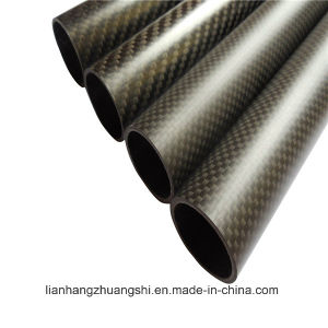 3k Twill Weave Glossy Surface Carbon Fiber Round Tubes/Pipes pictures & photos