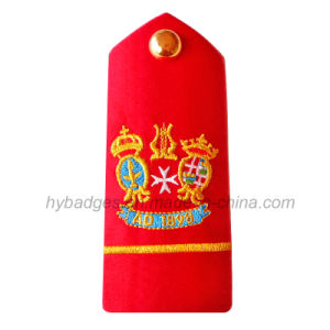 Custom Different Shape Embroidery Epaulets Patch (GZHY-PATCH-003) pictures & photos