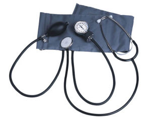 High Quality Aneroid Sphygmomanometer with Stethoscope pictures & photos