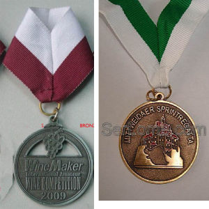 Metal Medal With Lanyard