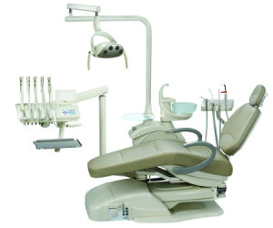Osa-388-True Leather Dental Chair Unit (right hand and Left hand can be used) pictures & photos