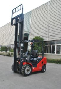 Un New Red 2500kg Dual Fuel Gasoline/LPG Forklift with Triplex 4.3m Mast pictures & photos
