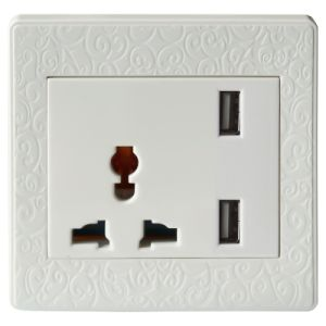 CE RoHS USB Plug Wall Socket Outlet for South Africa/Brazil/ Ghana