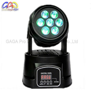 10W*7PCS RGBW 4-in-1 Mini Moving Head LED Wash Moving Head Stage Light pictures & photos