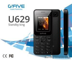 "Gfive U629 Big Batter Long Standby Cell Phone Mobile Phone Feature Phone Basic Phone 1.77"" Dual SIM Ce FCC Certificated"