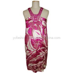 Ladies Silk Burn-out Dress