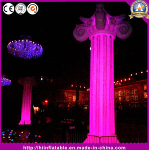 Attractive Wedding Decorating Inflatable Roman Pillar with LED Changeable Lights pictures & photos