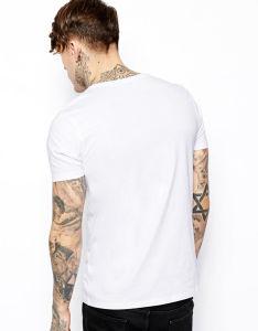 Wholesale Men 100 Cotton Plain Blank White T-Shirt pictures & photos