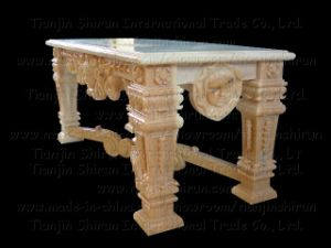 Marble Carving Table, Garden Stone Furniture (BNH332) pictures & photos