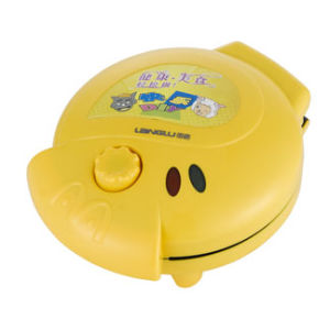 Electric Lovely Cartoon Intelligence Cake Maker Yellow (MD-120)