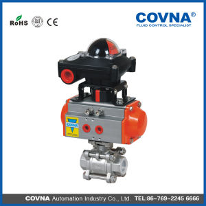 3 PCS Threaded Pneumatic Ball Valve with Limited Switch pictures & photos