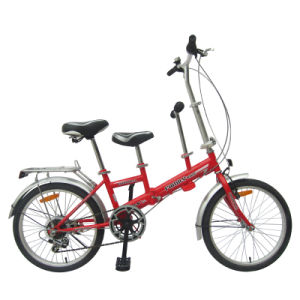 "20"" Chinese 6sp for Mom and Kid Steel Frame Folding Bike"