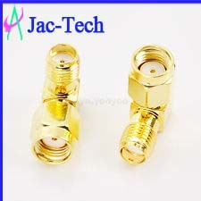 90 Degree SMA Male RP to SMA Female Connector