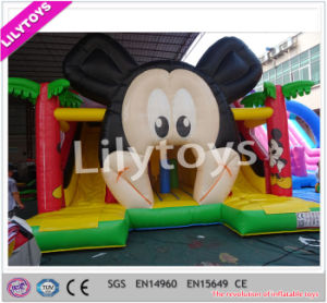 Attractive Design Durable Panda Inflatable Castle Slide Promotion pictures & photos