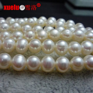 6-7mm a Nearly Round Freshwater Pearl Strands E180010 pictures & photos