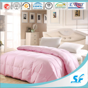 High Quality Plain Dyed Microfiber Quilt/Filling with Polyester Comforter pictures & photos