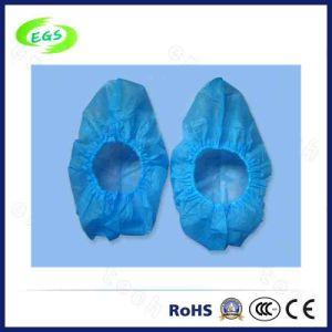 Disposable Capsule 28mm Plastic Slip Resistant ESD Shoe Covers pictures & photos