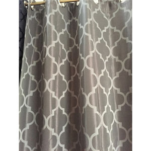 Hookless Fabric Shower Curtain with Printed/Jacquard Fabric pictures & photos