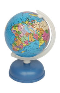Dia 6cm Paper Globe with Sharpener (J304)