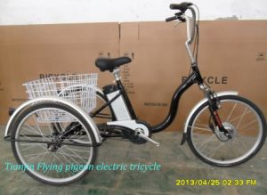 Electric Assist Trike PAS Tricycle Pedelec Adult Tricycle Moped Trike (ETR010) pictures & photos