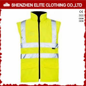 Fashion Workwear Fluorescent Yellow Safety Vest (ELTHVVI-4) pictures & photos