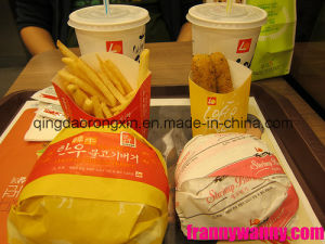 One Side PE Coated Paper for Lotteria Hamburger Packaging pictures & photos