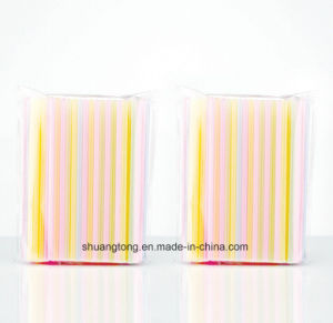 Disposable Product Sharp-Pointed Straight Plastic Straw pictures & photos