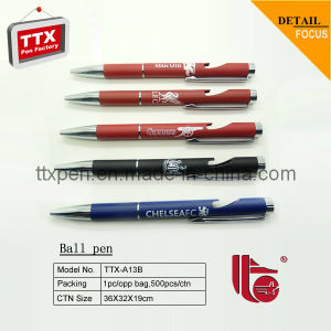 Promotional Gift Metal Ball Pen with Bottle Opener
