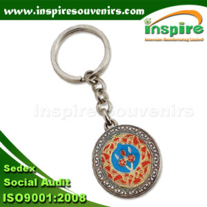 Oil-Filled Round Keychain for Souvenir (SK503B) pictures & photos