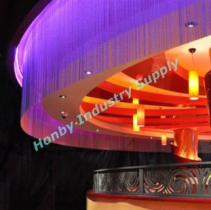 Night Club Design Metal Bead Shimmer Screen