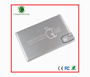 Aluminum Name Credit Card USB Flash Disk Flash Memory