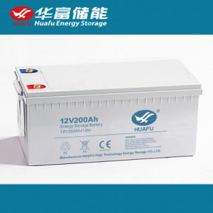 12V200ah Rechargeable Lead Acid Deap Cycle Battery for Solar pictures & photos