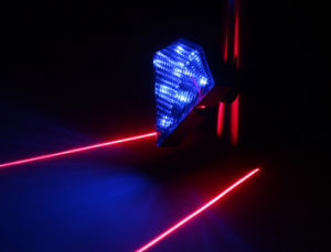 Rechargeable Blue Bike Lamp Rear Light with Laser pictures & photos