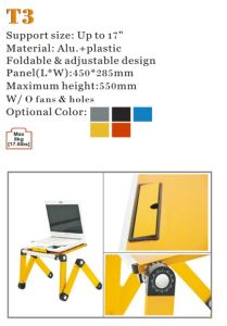 "Laptop Desk Alu Panel Foldable Adjustable Height Upto 17"" (T3) pictures & photos"