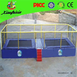 Double Rectangle Kids Trampoline on Sale pictures & photos