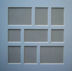 China Multi Opening Design Paper Frames Art Mat Board For