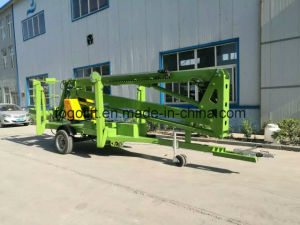 Top Sale! ! Articulated Towable Boom Lift Trailer Mounted Cherry Picker Man Lift for Sale pictures & photos