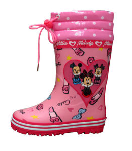 Kid′s Rain Boots with Pattern Cartoon pictures & photos