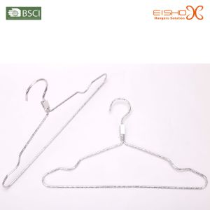 Laundry Product Eisho (SJYL0003) Non-Slip Metal Hanger pictures & photos
