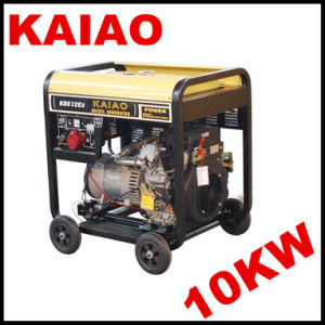 10kVA Cooled Open Type Electric Diesel Generator Set Complied with CE and ISO Quality Certificate pictures & photos