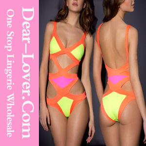 Super Sexy Yellow Bandage Cutout Monokini pictures & photos
