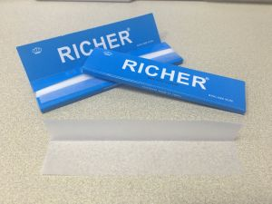 Richer 14GSM Transparent Strong Arabic Gum Hemp Cigarette Rolling Paper pictures & photos