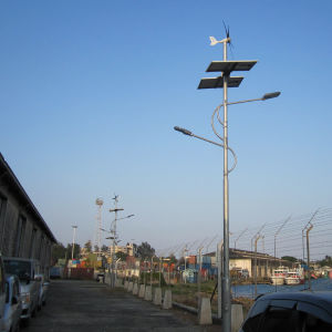 400W Horizontal Street Light System Use Wind Turbine Generator