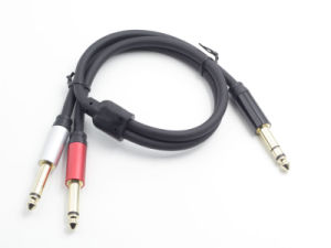 Premium 6.35mm Splitter Trs to Dual Ts Guitar Cable pictures & photos